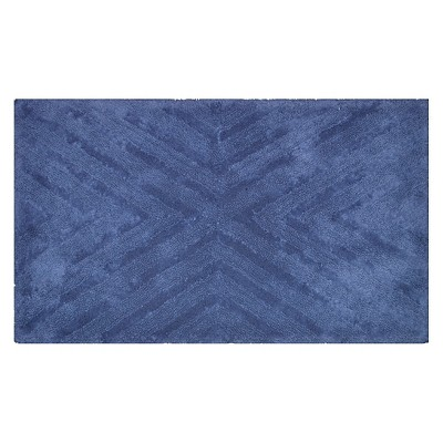 Textured Stripe Bath Rug (23 X38 )Balanced Blue - Project 62™ + Nate Berkus™