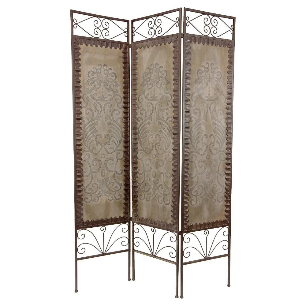 6 ft. Tall Mediterranean Room Divider - Oriental Furniture, Brown/Gray