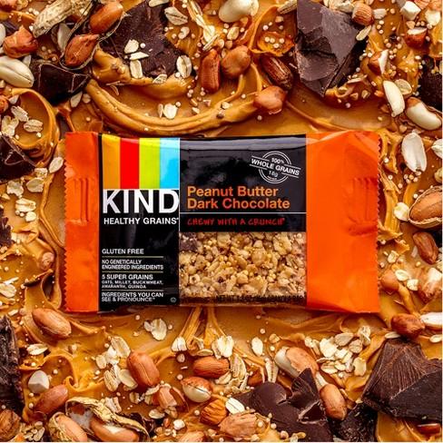 KIND Healthy Grains® Peanut Butter Dark Chocolate Chunk, Gluten Free  Granola Bars - 5ct