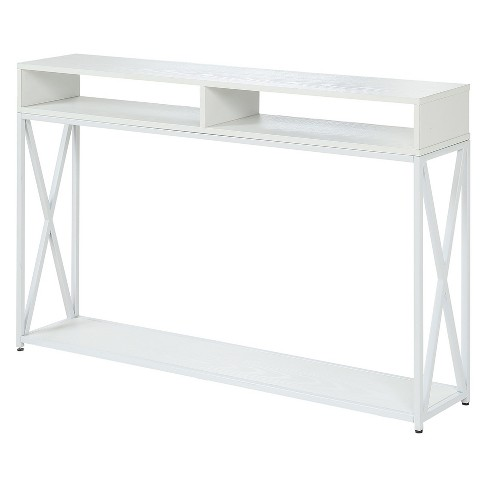 Johar Furniture Tucson Deluxe 2 Tier Console Table White Target