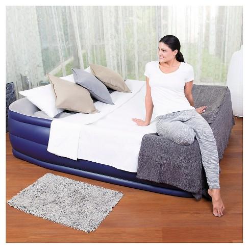 bestway queen air mattress Bestway Nightrest Raised Air Mattress   Double High Queen   Blue  bestway queen air mattress