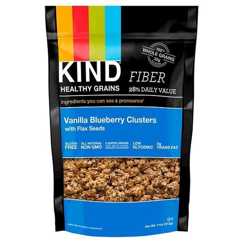KIND Healthy Grains Fiber Vanilla Blueberry Clusters - 11oz - image 1 of 2