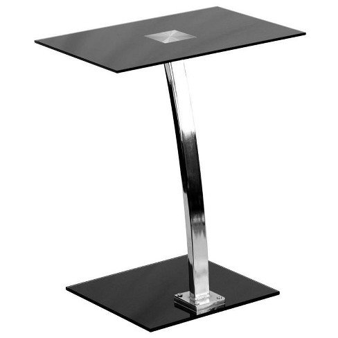Laptop Computer Desk with Silk Black Tempered Glass Top - Flash Furniture - image 1 of 2