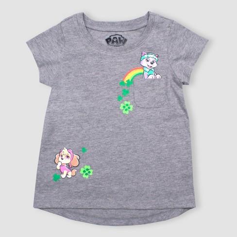 Toddler Girls' Nickelodeon PAW Patrol Short Sleeve T-Shirt - Gray 4T - image 1 of 1