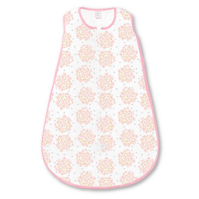 SwaddleDesigns Sleeping Sack - Floral Shimmer - Pink Heavenly S
