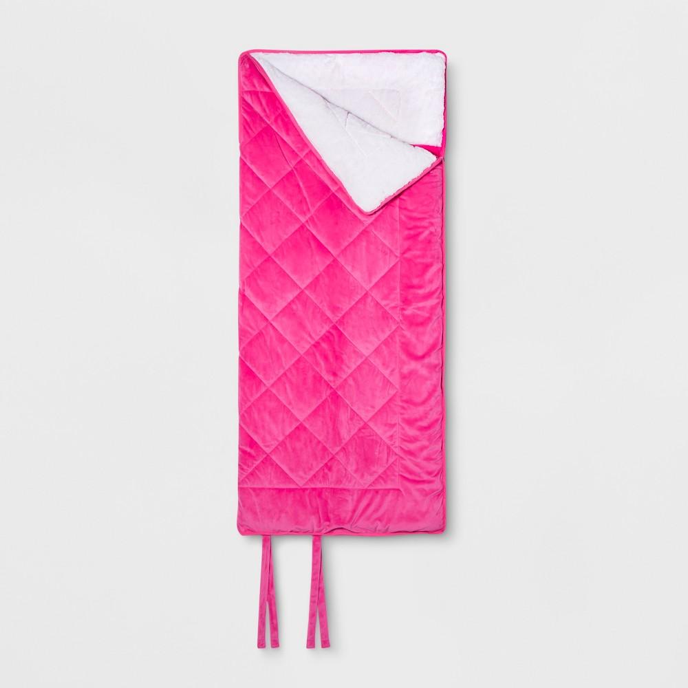 Faux Velvet Sleeping Bag Pink - Pillowfort