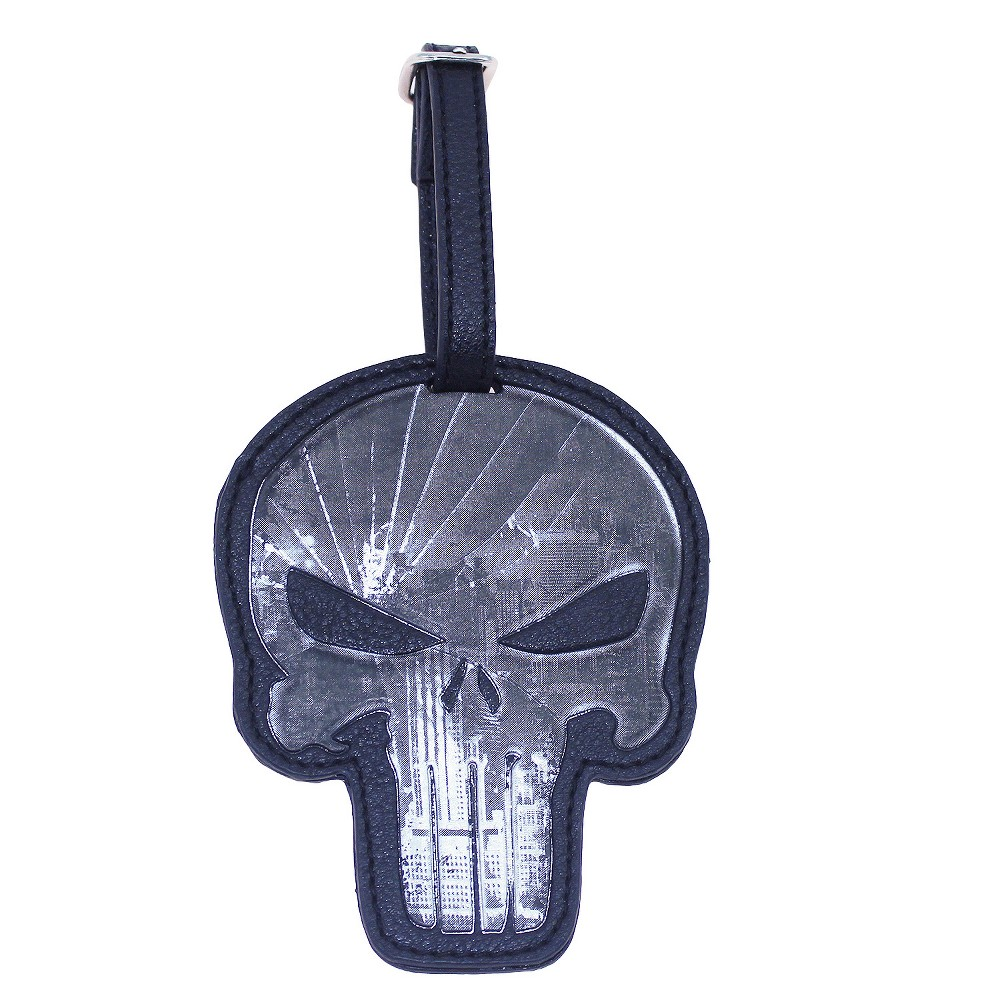 Marvel Punisher Luggage Tag, Almost Black
