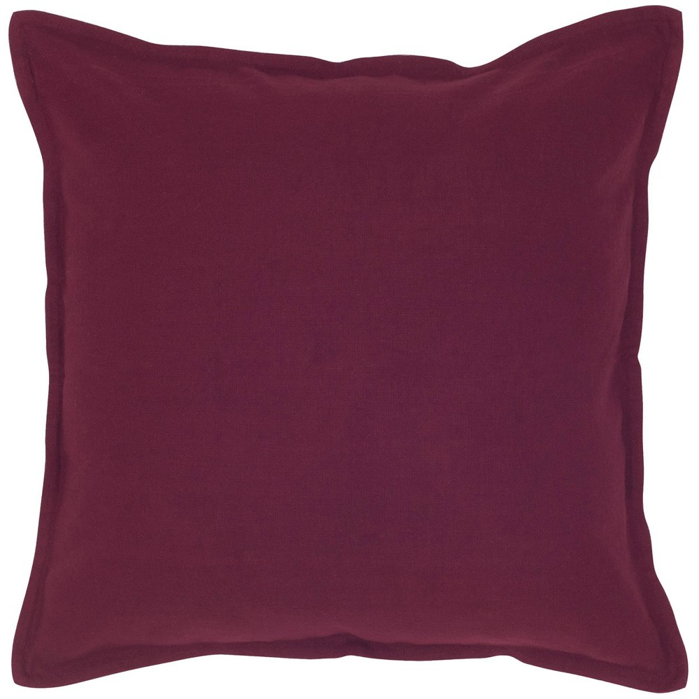 20 34 X20 34 Oversize Solid Square Throw Pillow Purple Rizzy Home