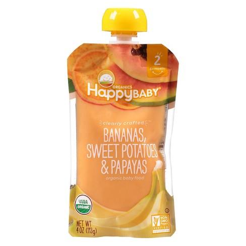 Happy Baby Pureed Baby Food Bananas Sweet Potatoes - 4oz - image 1 of 4