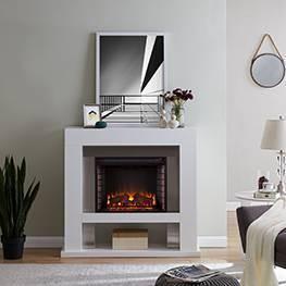 Lockman Stainless Steel Fireplace - Aiden Lane
