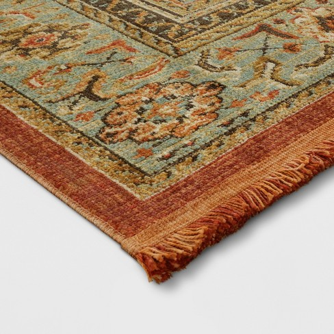 Spiced Green Floral Woven Accent Rug 5 X7 Threshold Target