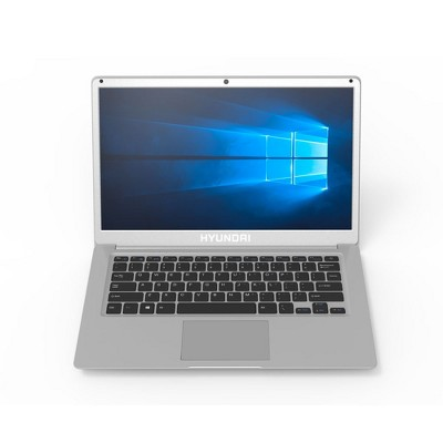 "Hyundai Thinnote-A, 14.1"" Celeron Laptop, 4GB RAM, 64GB Storage, Expandable 2.5"" SATA HDD Slot, Windows 10 Home S Mode, English - Silver"