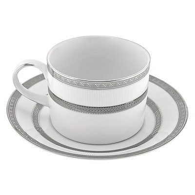 10 Strawberry Street Sophia Can Cup/Saucer 6oz Set of 4