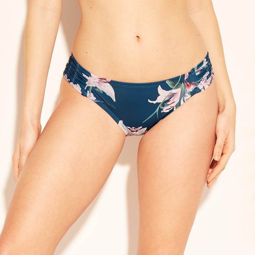 4e9d5e6cc03 Womens Ruched Tab Side Bikini Bottom Kona Sol Blue XL