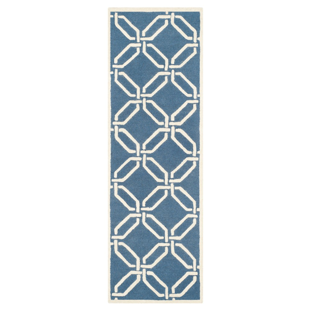 Bellina Textured Runner - Navy/Ivory (Blue/Ivory) (2'6 X 8') - Safavieh