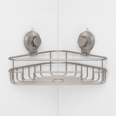 Wire Corner Suction Basket Matte Satin - Made By Design™