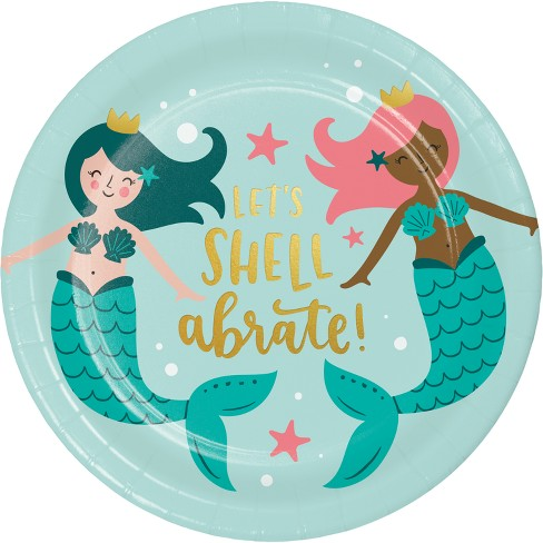 10ct Mermaid Dinner Plate - Spritz™ - image 1 of 1