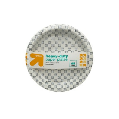 Heavy Duty Disposable Paper Plates - 8.5  - 95ct - Up&Up™