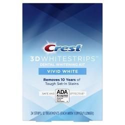 Crest 3D Whitestrips Vivid White Teeth Whitening Kit - 12ct