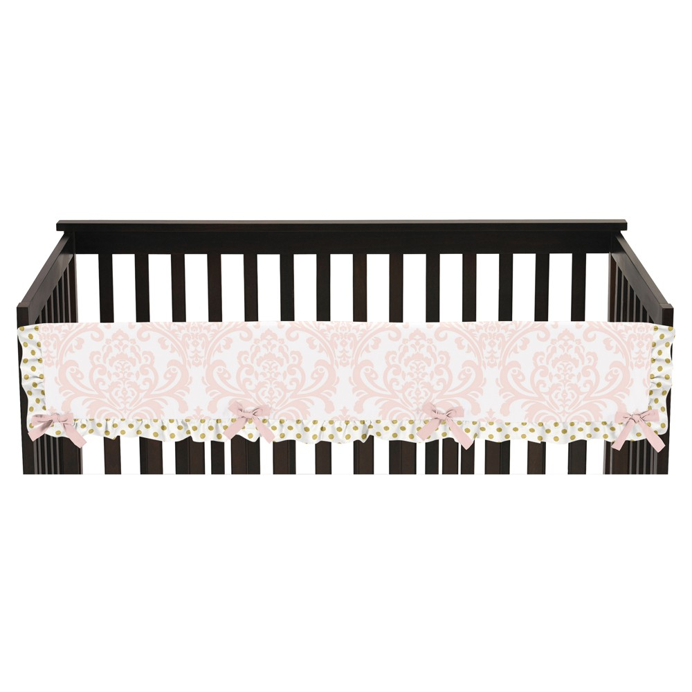 Sweet Jojo Designs Front Crib Rail Guard Cover - Amelia