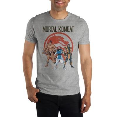 Mortal Kombat Video Game Mens Grey Short Sleeve Shirt