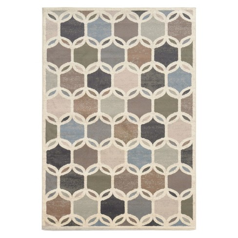 Interlocking Circles Area Rug - Natural - image 1 of 1