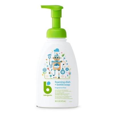 Babyganics Foaming Dish & Bottle Soap, Fragrance Free - 16 oz (3pk)