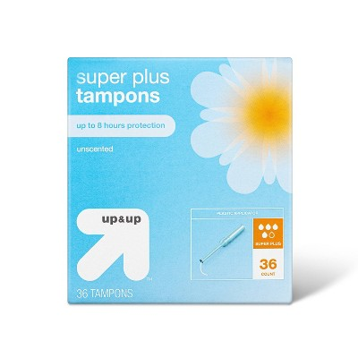 Rounded-Tip Plastic Applicator Unscented Super Plus Tampons - 36ct - up & up™