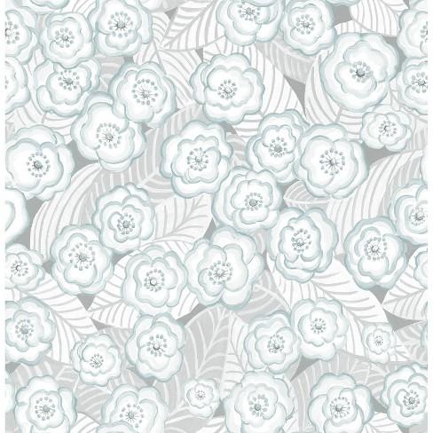 Nuwallpaper Oopsie Daisy Peel And Stick Wallpaper Gray Target