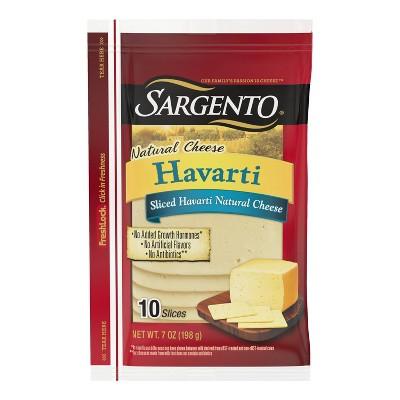 Sargento Natural Havarti  Sliced Cheese - 7oz/10 slices