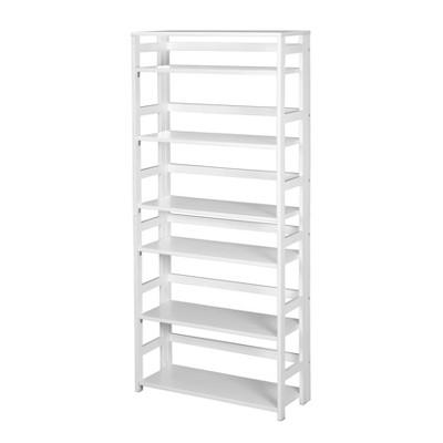 "67"" Cakewalk High Folding Bookcase White - Regency"