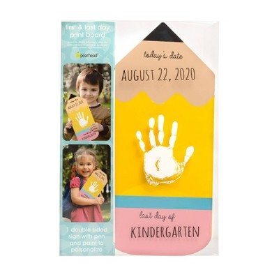 Pearhead First and Last Day of School Handprint Board - Pencil
