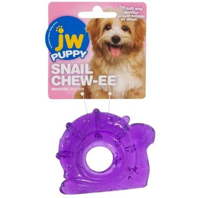 JW Pet Puppy Snail Chew-Ee Dog Toy - Purple
