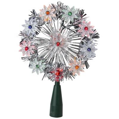 """Kurt S. Adler 38"""" Lighted Snowflake Christmas Tree Topper - Multicolor Lights"""