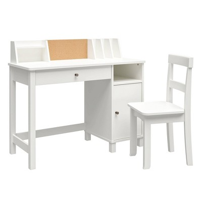 Alexis Kids' Desk with Chair White - Room & Joy