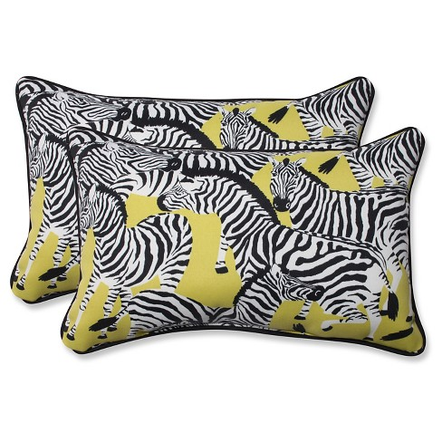 Yellow Outdoor Throw Pillows.Pillow Perfect Herd Together Wasabi Outdoor Throw Pillow Set Yellow