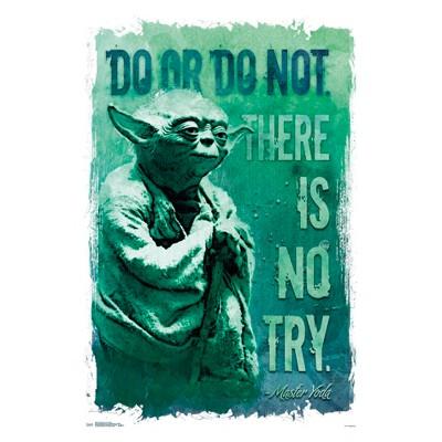 Star Wars Do Or Do Not Unframed Wall Poster Print 34  x 22.38  - Trends International