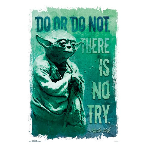 """Star Wars Do Or Do Not Unframed Wall Poster Print 34"""" x 22.38"""" - Trends International - image 1 of 2"""