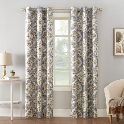 Regina Watercolor Floral Thermal Insulated Grommet Curtain Panel - Sun Zero
