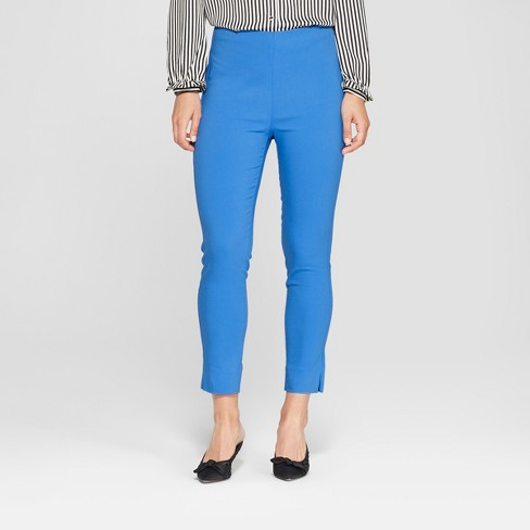 Women's Skinny Ankle Pants - Who What Wear™ Blue - image 1 of 2
