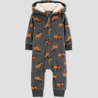 Baby Boys' Reindeer Jumpsuit - Just One You® made by carter's Gray 3M