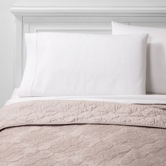 Full/Queen Linen Blend Jacquard Quilt Beige - Threshold™