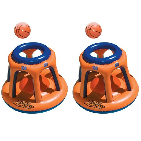 Swimline  Basketball Hoop Giant Shootball Inflatable Swimming Pool Toy (2 Pack) - image 1 of 4