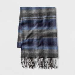 Men's Blurred Striped Scarf - Goodfellow & Co™ Blue One Size