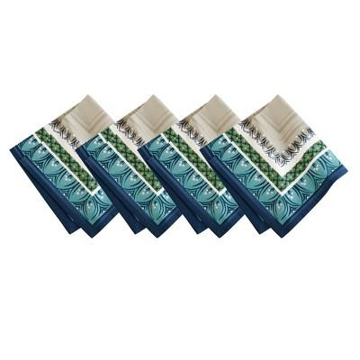 "Villeroy & Boch - Casale Blu Cotton Fabric Napkin Set of 4 - 21"" x 21"""
