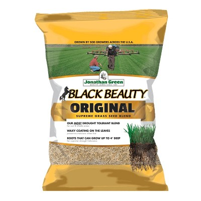 Jonathan Green 10315 Drought Tolerant Black Beauty Original Grass Seed Mix for Partial Shade Clay Soil Covers Up To 7,500 Square Feet, 25 Pounds