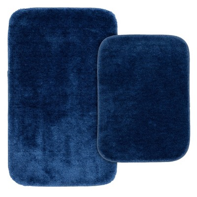 2pc Traditional Washable Nylon Bath Rug Set - Garland