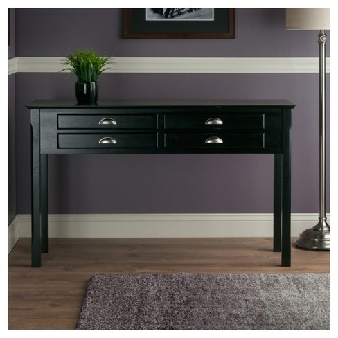 console table with drawers Timber Hall/Console Table, Drawers   Black   Winsome : Target console table with drawers