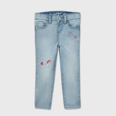 Toddler Girls' Unicorn Skinny Jeans - Cat & Jack™ Light Wash