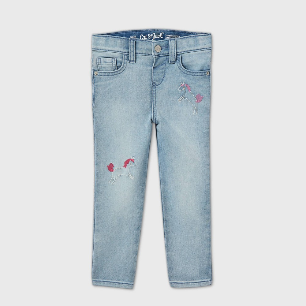 Toddler Girls 39 Unicorn Skinny Jeans Cat 38 Jack 8482 Light Wash 12m